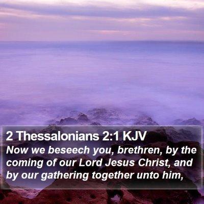 2 Thessalonians 2:1 KJV Bible Verse Image