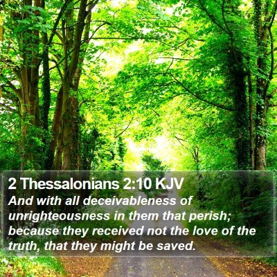 2 Thessalonians 2:10 KJV Bible Verse Image