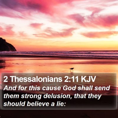 2 Thessalonians 2:11 KJV Bible Verse Image