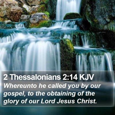 2 Thessalonians 2:14 KJV Bible Verse Image