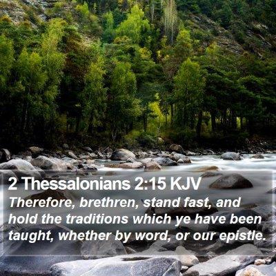 2 Thessalonians 2:15 KJV Bible Verse Image