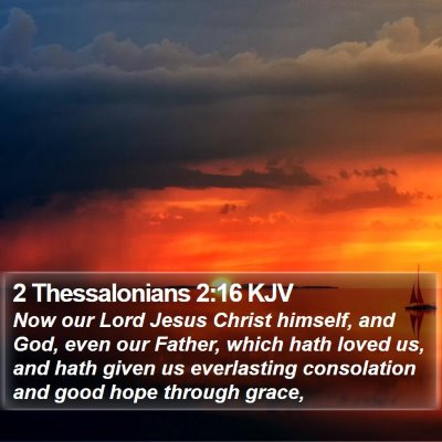 2 Thessalonians 2:16 KJV Bible Verse Image