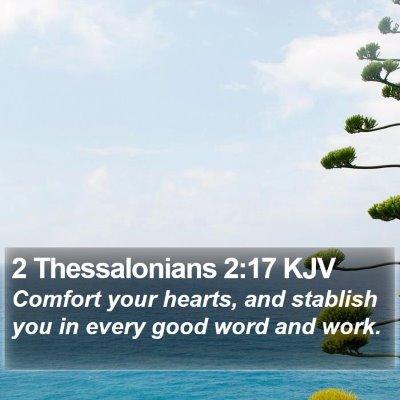 2 Thessalonians 2:17 KJV Bible Verse Image