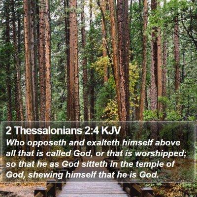 2 Thessalonians 2:4 KJV Bible Verse Image