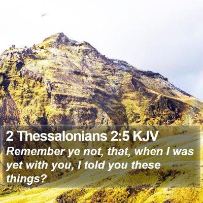 2 Thessalonians 2:5 KJV Bible Verse Image