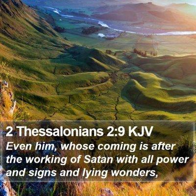 2 Thessalonians 2:9 KJV Bible Verse Image
