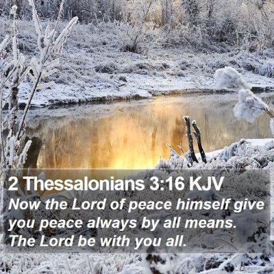 2 Thessalonians 3:16 KJV Bible Verse Image