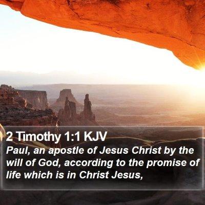 2 Timothy 1:1 KJV Bible Verse Image