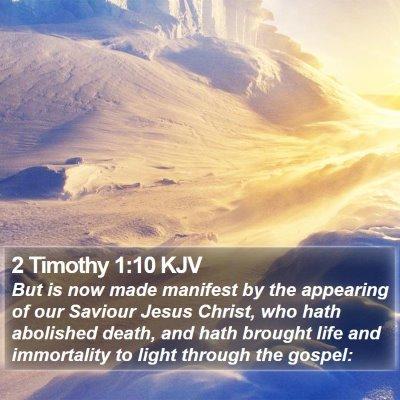 2 Timothy 1:10 KJV Bible Verse Image