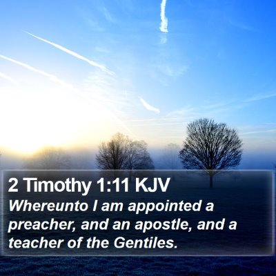 2 Timothy 1:11 KJV Bible Verse Image