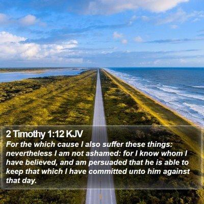 2 Timothy 1:12 KJV Bible Verse Image