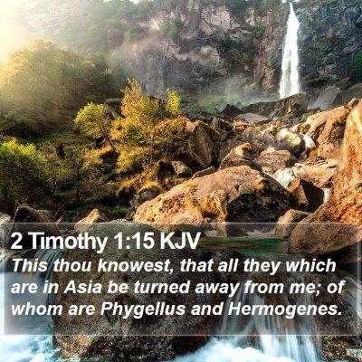 2 Timothy 1:15 KJV Bible Verse Image