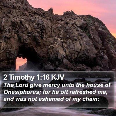 2 Timothy 1:16 KJV Bible Verse Image