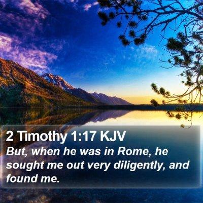 2 Timothy 1:17 KJV Bible Verse Image