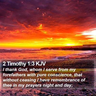 2 Timothy 1:3 KJV Bible Verse Image