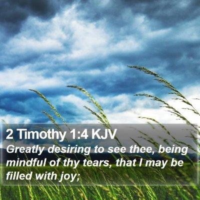 2 Timothy 1:4 KJV Bible Verse Image