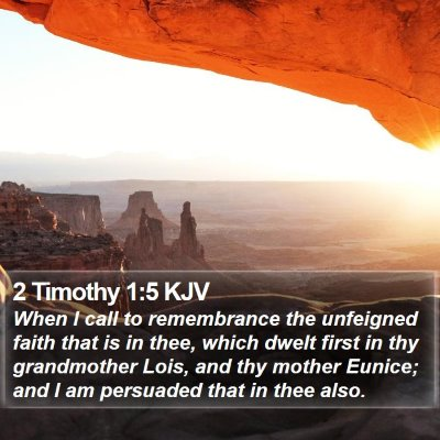 2 Timothy 1:5 KJV Bible Verse Image
