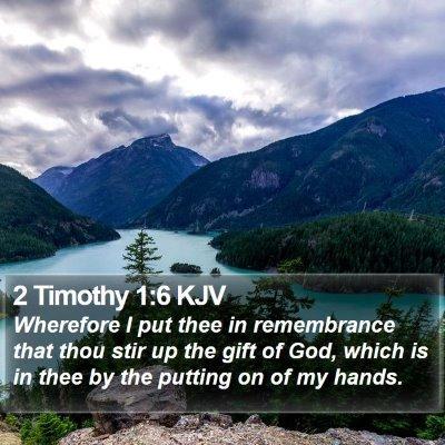 2 Timothy 1:6 KJV Bible Verse Image
