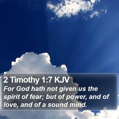 2 Timothy 1:7 KJV Bible Verse Image