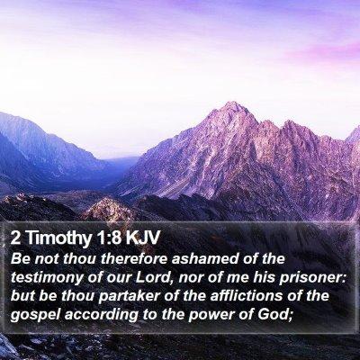 2 Timothy 1:8 KJV Bible Verse Image