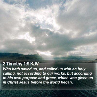 2 Timothy 1:9 KJV Bible Verse Image