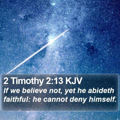 2 Timothy 2:13 KJV Bible Verse Image