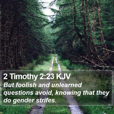 2 Timothy 2:23 KJV Bible Verse Image