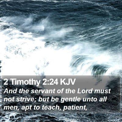 2 Timothy 2:24 KJV Bible Verse Image