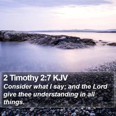 2 Timothy 2:7 KJV Bible Verse Image