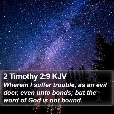 2 Timothy 2:9 KJV Bible Verse Image
