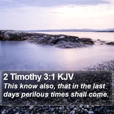 2 Timothy 3:1 KJV Bible Verse Image