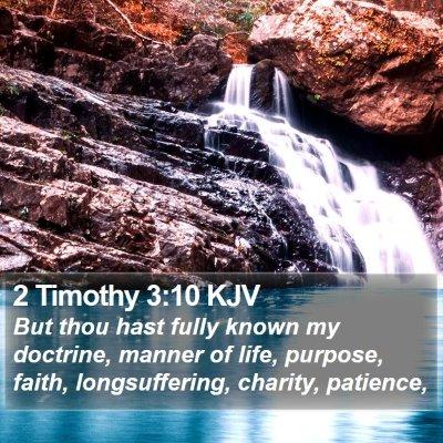 2 Timothy 3:10 KJV Bible Verse Image