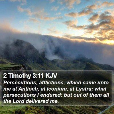 2 Timothy 3:11 KJV Bible Verse Image