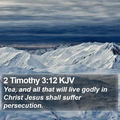 2 Timothy 3:12 KJV Bible Verse Image