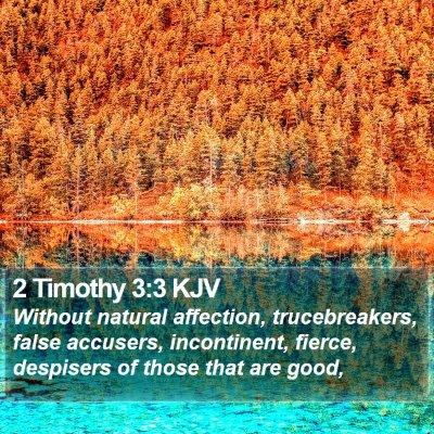 2 Timothy 3:3 KJV Bible Verse Image