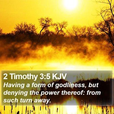 2 Timothy 3:5 KJV Bible Verse Image