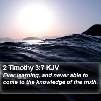 2 Timothy 3:7 KJV Bible Verse Image
