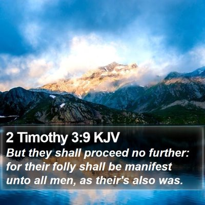 2 Timothy 3:9 KJV Bible Verse Image