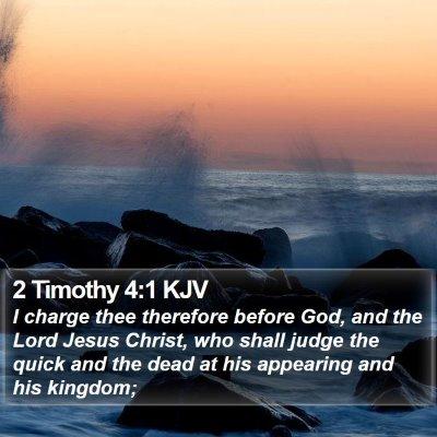 2 Timothy 4:1 KJV Bible Verse Image