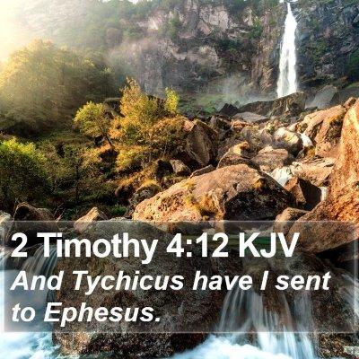 2 Timothy 4:12 KJV Bible Verse Image