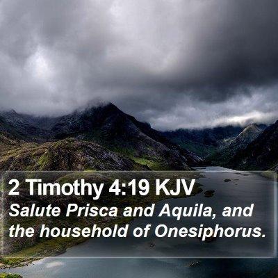 2 Timothy 4:19 KJV Bible Verse Image