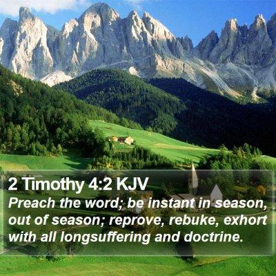 2 Timothy 4:2 KJV Bible Verse Image
