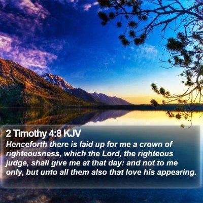2 Timothy 4:8 KJV Bible Verse Image
