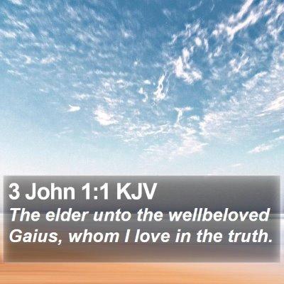 3 John 1:1 KJV Bible Verse Image
