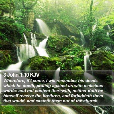3 John 1:10 KJV Bible Verse Image