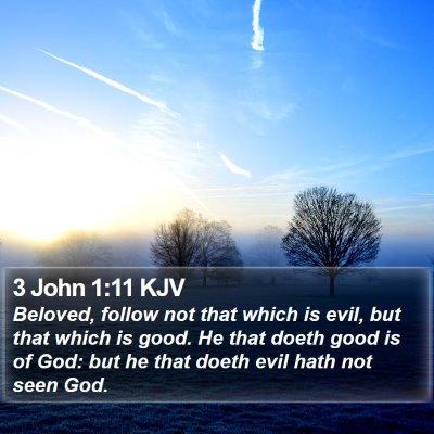 3 John 1:11 KJV Bible Verse Image