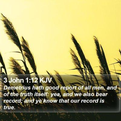 3 John 1:12 KJV Bible Verse Image