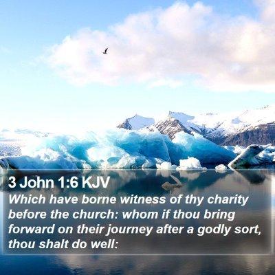 3 John 1:6 KJV Bible Verse Image