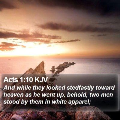 Acts 1:10 KJV Bible Verse Image