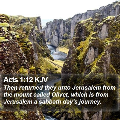 Acts 1:12 KJV Bible Verse Image